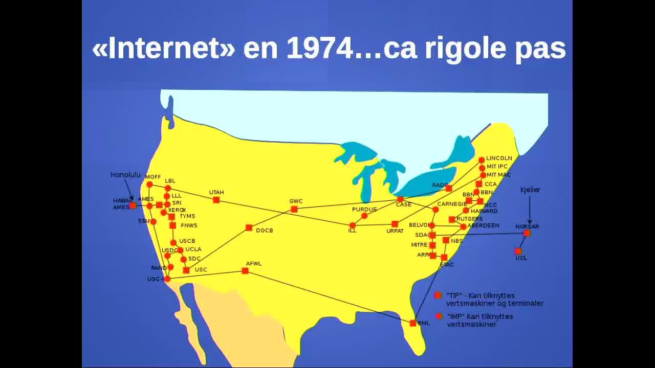 1ère carte d'Internet...en 1974
