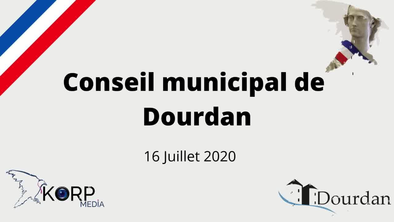 Mairie de Dourdan - Conseil municipal du 16 juillet 2020