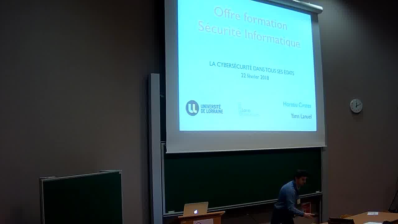 Université de Lorraine, Master en Sécurite SI, Horatiu Cirstea