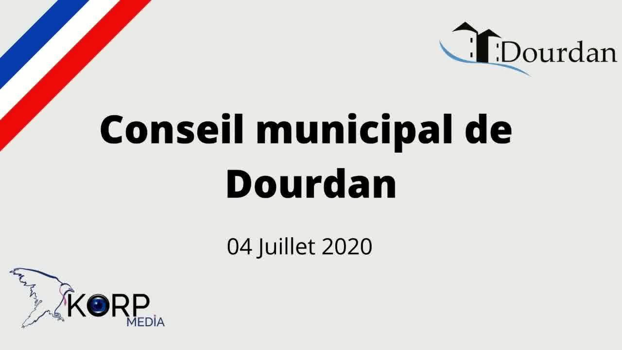 Mairie de Dourdan - Conseil Municipal d'installation du 3 juillet 2020